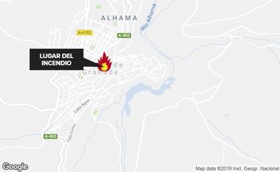 Un hombre resulta herido tras arder su cocina en Alhama de Granada