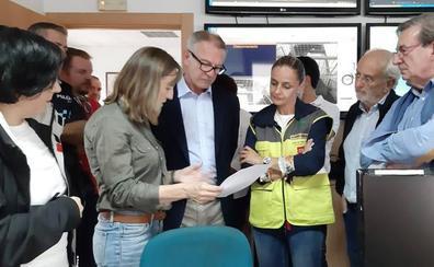 Guirao destaca la coordinación entre las administraciones ante el temporal