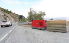 La Junta denuncia la instalación sin permiso de un tanque de combustible en la carretera de Sierra Nevada