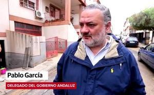 El delegado del Gobierno andaluz, Pablo García, hace balance de la tormenta