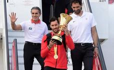 Los campeones del mundo ya están en España