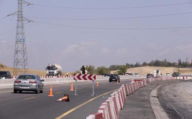 La A-44 de Granada pierde desde hoy un carril por las obras de la segunda circunvalación