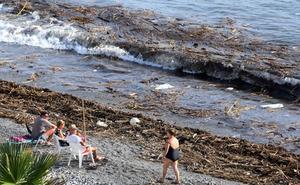 El temporal arrastra toneladas de basura a varias playas granadinas