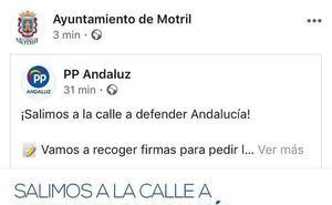 El PSOE critica el uso partidista de las redes sociales del Ayuntamiento de Motril