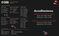 Conciertos y horarios del Granada Sound