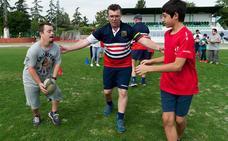 Escoriones pone en marcha la primera escuela de rugby inclusivo de Granada