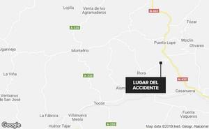 Dos heridos en un accidente en la carretera de Puerto Lope