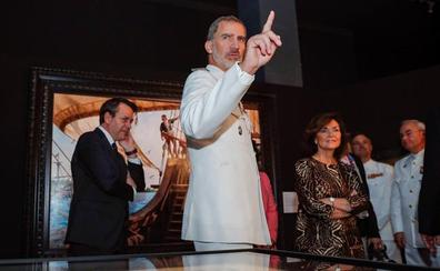 El Rey inaugura un muestra que reivindica a los héroes de la primera vuelta al mundo