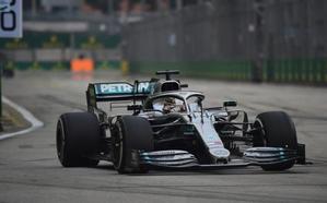 Hamilton manda en los segundos libres, con Sainz séptimo