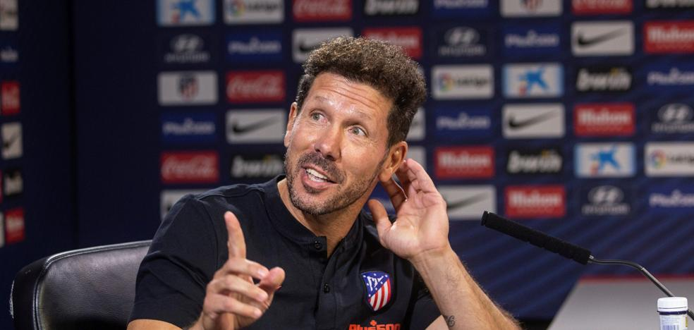 Simeone: «La gente del Atlético es exigente y no me sorprenden las críticas»
