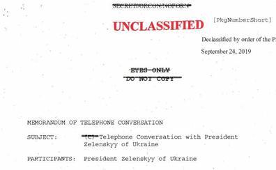 Traducción de la conversación desclasificada entre Trump y Zelenski