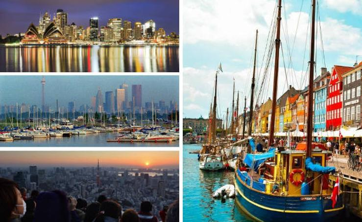 Las 10 ciudades más habitables y las 10 menos habitables del mundo