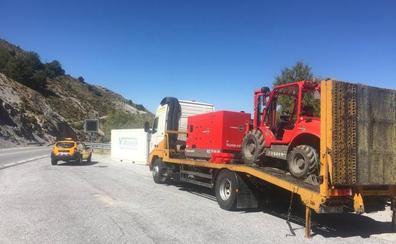 La empresa sancionada retira el tanque de gasolina de la carretera de Sierra Nevada