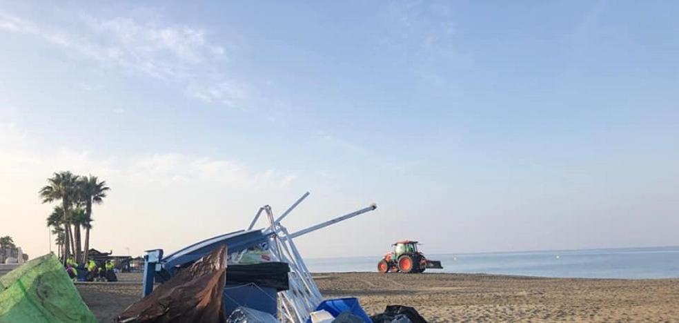 La empresa concesionaria dejó de limpiar las playas de la capital el pasado jueves