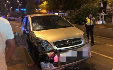 Un motorista resulta herido grave en un accidente en Camino de Ronda