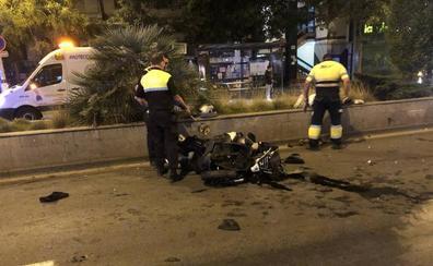 Sale de la UCI el herido en el accidente del viernes por la noche en el Camino de Ronda
