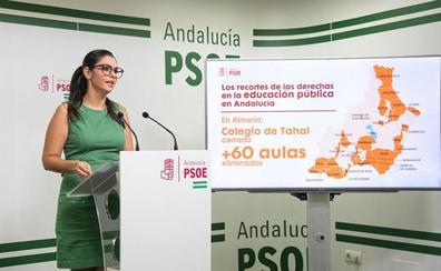 El PSOE exige en el Parlamento la reapertura del colegio de Tahal