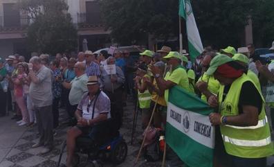 La marcha de los pensionistas pasa por la provincia de Jaén en su objetivo de llegar a Madrid