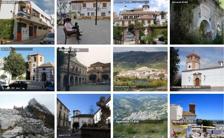 Los 10 pueblos más ricos y los 10 más pobres de Granada