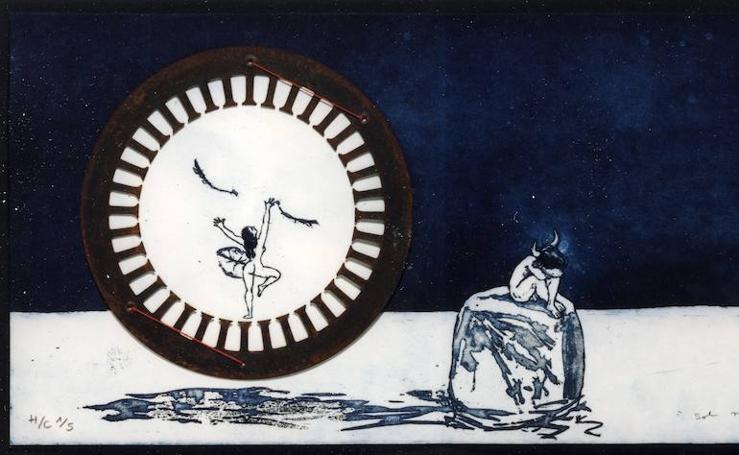 Así es 'Sembrado de lunas. Ordeño versos', exposición de Pepe Yagües