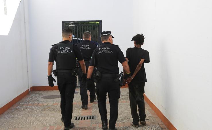 Así han detenido el ladrón de la chimenea en Granada