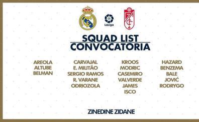 Courtois, Lucas Vázquez, Marcelo y Vinicius, fuera de la convocatoria de Zidane