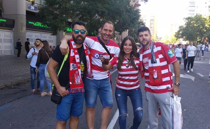 La afición del Granada 'invade' Madrid en un día inolvidable