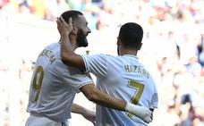 Benzema batió a Rui Silva tras un magistral pase de Bale