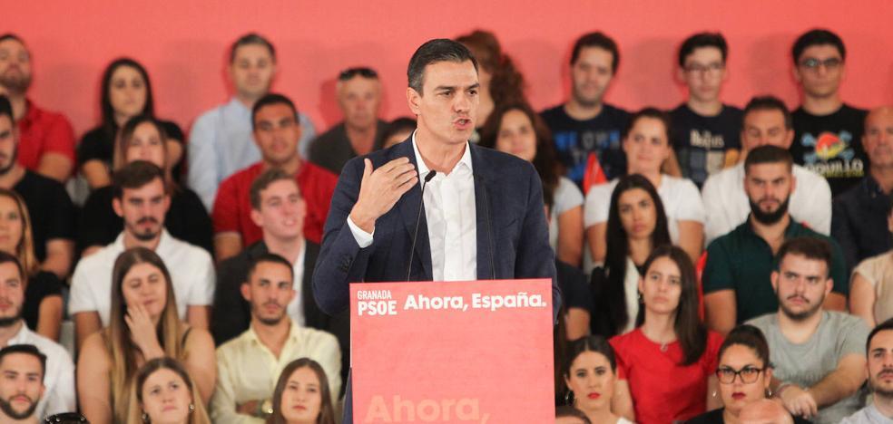 Sánchez apela en Granada al voto útil contra el «bloqueo» del país