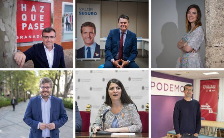 Quince aspirantes al Congreso por Granada de los seis principales partidos