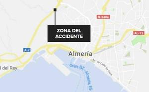 Retenciones en la A-7 a su paso por Almería por una colisión múltiple