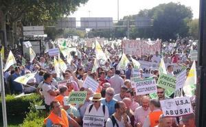 Así se está viviendo la manifestación de agricultores en Madrid