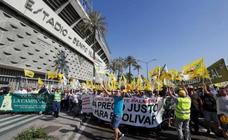 Protestas contra los precios del aceite en Madrid
