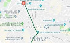 Cortes de tráfico y cambios en los autobuses de Granada para hoy por una manifestación y varias obras