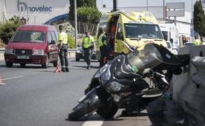 Manifestación de motoristas para reclamar carreteras más seguras