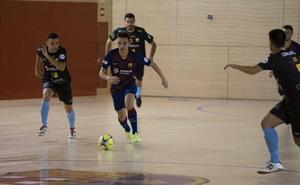 El Mengíbar FS lidera la tabla tras doblegar al Barça B en la cancha blaugrana