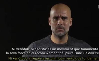 Guardiola pide presión internacional para que «España se siente a hablar»