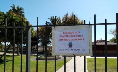 Cierra el parque de la Fuente de Salobreña para eliminar una plaga de ratones
