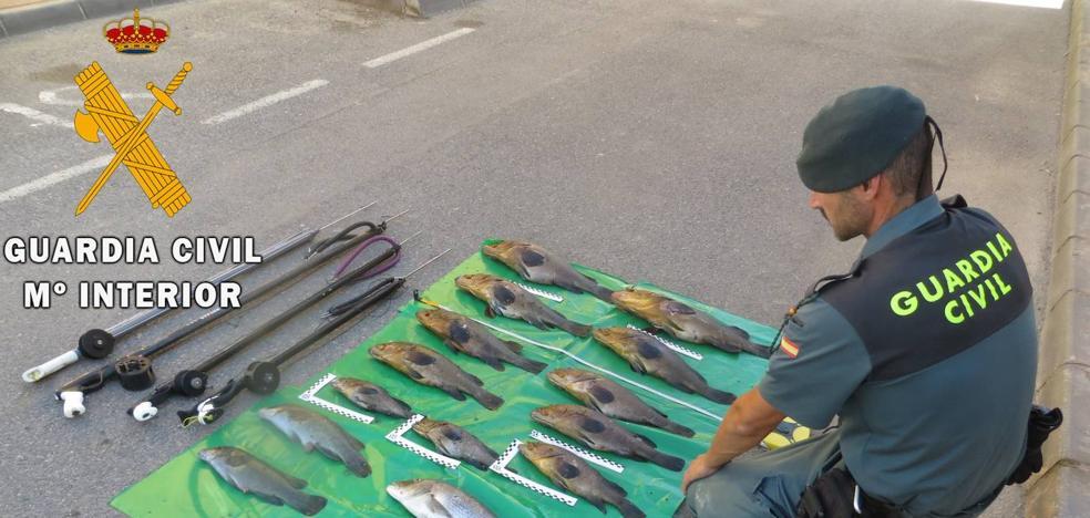 Investigan a cuatro furtivos por pescar en una zona prohibida de Cabo de Gata