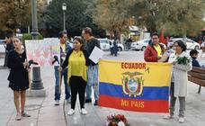 Ecuatorianos de Granada piden justicia en su país