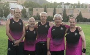 Seis integrantes de la AD Maratón Jaén, en la Media Maratón de Amsterdam