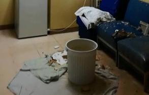 Desplome de parte del techo en las urgencias del Hospital Materno Infantil