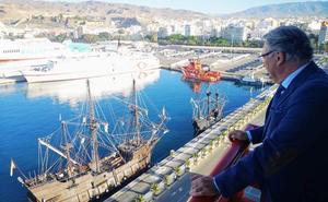 La nao Victoria ya está en el puerto de Almería