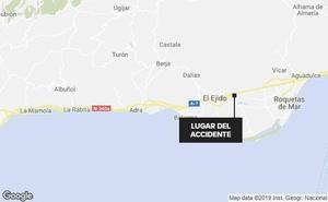 Accidente mortal en la A-7 en Almería
