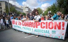 Los mejores momentos de la manifestación en Granada pidiendo «justicia por la Sanidad»