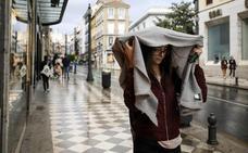 Las primeras lluvias del temporal empiezan a caer en Granada