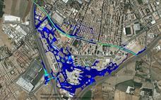El Centro y el PTS son las zonas más expuestas a una inundación en caso de gota fría