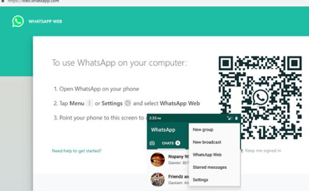 Resultado de imagen para WHATSAPP WEB