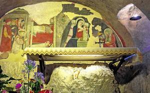 Una visita al primer belén de Navidad de la historia