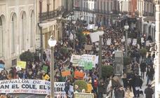 Cientos de personas se manifiestan contra reordenación de los centros educativos